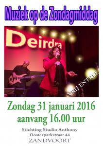 Deirdra Zandvoort Poster 31-01-2016 -  A4